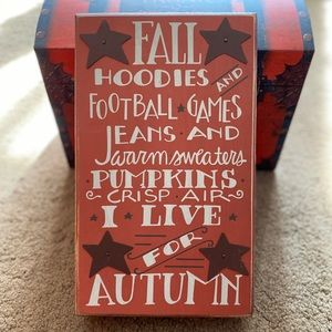 Fall 🍁 Box Sign-NWT